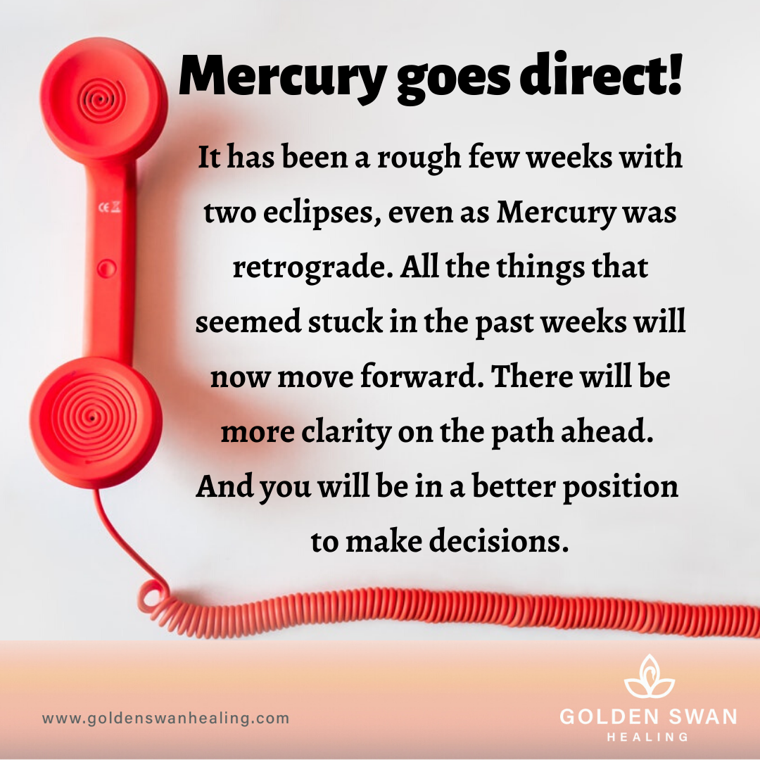 Mercury goes direct!